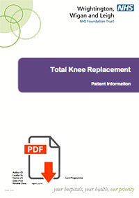 Information on a total knee replacement